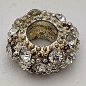Jewelry - Silver CZ Ring Charm - Fits PANDORA Bracelets